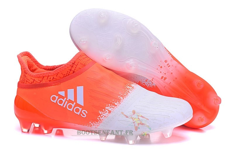 Adidas X 16+ FG Orange Blanc En Ligne