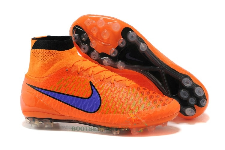 Nike Magista Obra AG Orange Bleu En Ligne