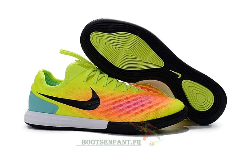 Nike MagistaX IC Jaune Orange En Ligne