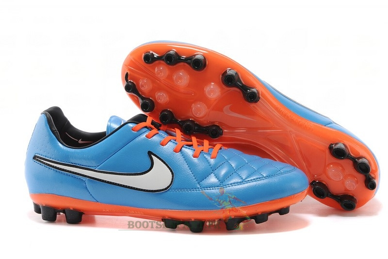 Nike Tiempo Legend V AG Orange Bleu Blanc Orange En Ligne