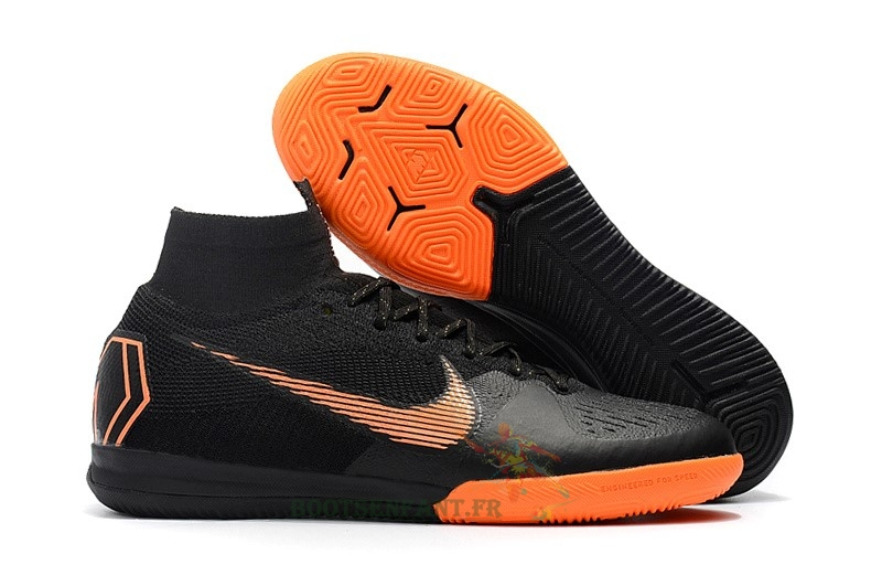 Nike SuperflyX 6 Elite IC Noir Orange En Ligne