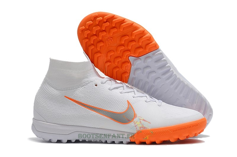 Nike SuperflyX 6 Elite TF Blanc Orange En Ligne