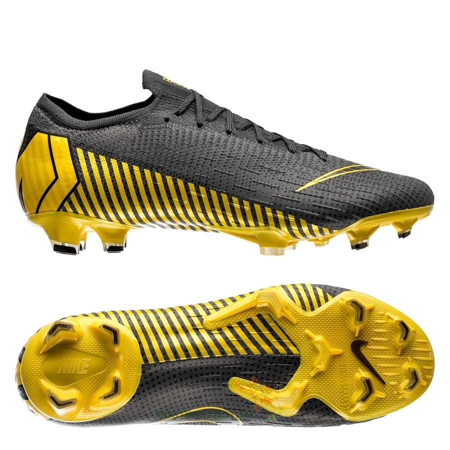 Nike Mercurial Vapor XII Elite FG Game Over Noir Jaune En Ligne